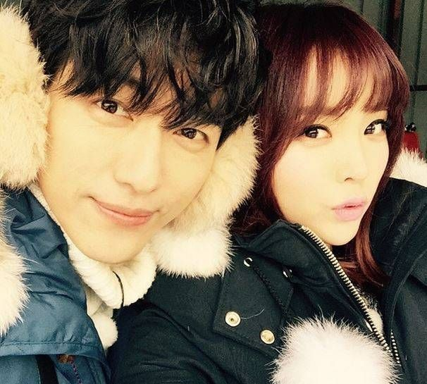 Nam Goong Min and Hong Jin Young go sledding   allkpop