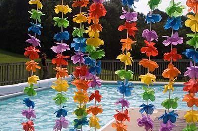 Doing this decorative idea for my daughter's luau birthday partyTheme Birthday Parties, Luau Parties, Girls Birthday Parties, Hawaiian Parties, Parties Ideas, Pools Parties, Hawaiian Theme, Parties Decor, Luau Decor