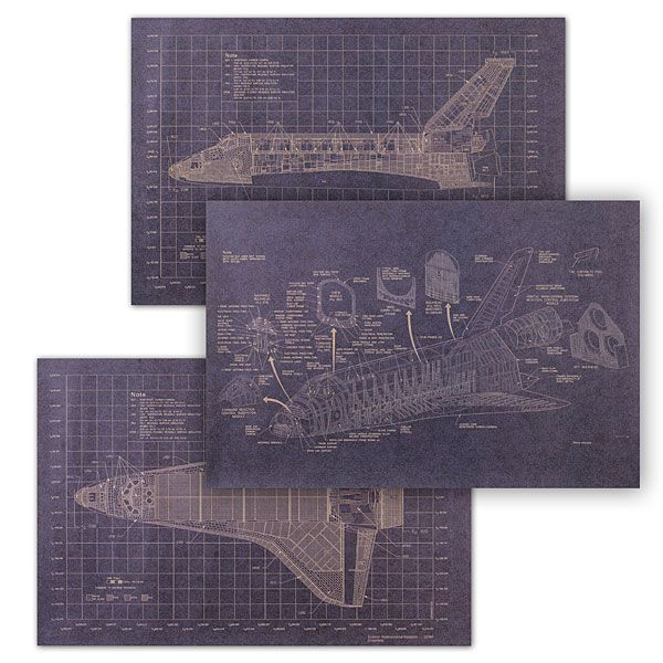 The Space Shuttle program may no longer be launching craft into space, its legacy lives on. While scientists work on humanity's next steps into the final frontier, celebrate our achievements with these blueprints of our first reusable spacecraft.