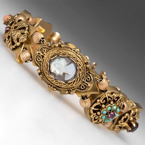 Antique Gold Charm Bracelet: 16 Best Vintage Slide Bracelets Images On Pinterest