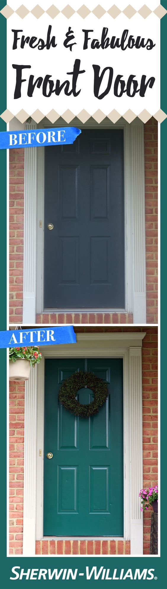 A much needed front door makeover hunt club exterior for Home exterior makeover app