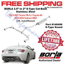 Same Business Day Shipping Borla S-Type Cat-Back Exhaust 2013-2016 Subaru BRZ & Scion FR-S 2.0L NEW 140496