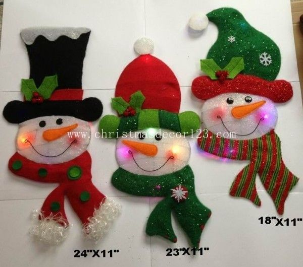 "Product Name:LH10714 18x18~24""LED snowman hanging ornaments Model:LH10714 Size:18x18~24"" Package:PP Bag for ea"