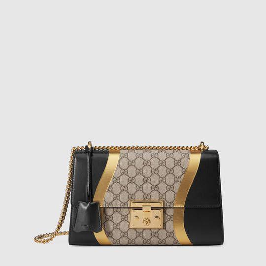a8052f354 Padlock GG Supreme and leather medium shoulder bag in 2019 ...