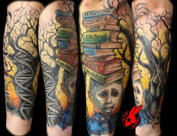 atheist tattoo sleeve