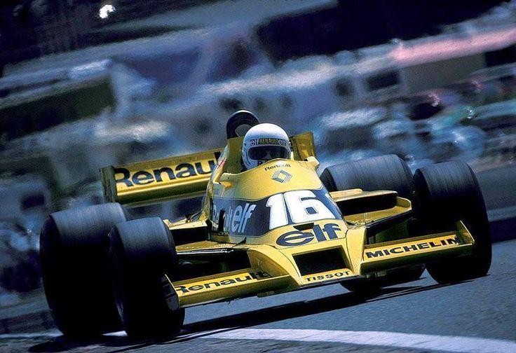 René Arnoux (Renault RS01) Grand Prix d'Espagne - Jarama 1979 - Carros e Pilotos.