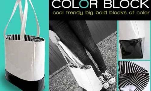 Color Block Tote – Free Sewing Tutorial