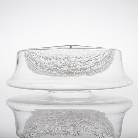 TIMO SARPANEVA - Art glass sculpture, Finlandia series bowl (diam. 36 cm) for Iittala, Finland.
