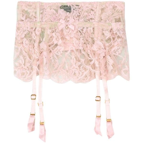 Agent Provocateur Suspender (1.180 BRL) ❤ liked on Polyvore featuring accessories, suspenders and light pink