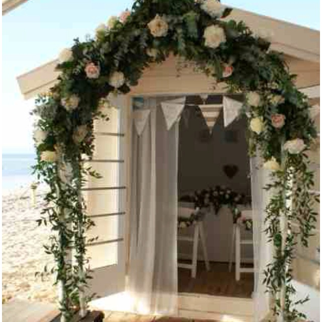 Outside the registry - The Beach Hut  Wedding Venue - Bournemouth http://www.beachweddingsbournemouth.co.uk/gallery/