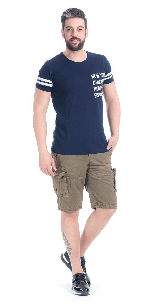 Modagen.com | Erkek Giyim, Erkeklere Özel Alışveriş Sitesi ~ Baskılı Lacivert Erkek Tişört