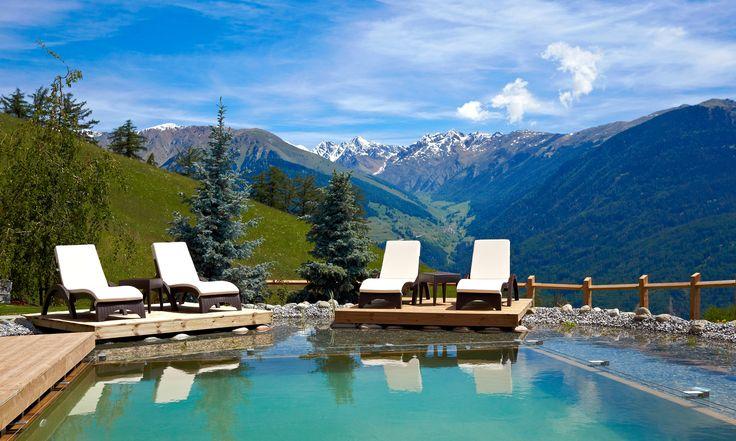 Relaxen hoch oben über dem Tal