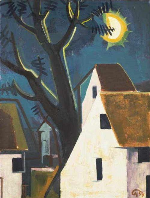 Karl Hofer Mondnacht 1954 Deutscher Maler Malerei