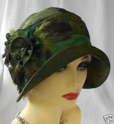1920s Vintage Inspired Brocade Cloche Hat Flapper Great Gatsby Downton | eBay