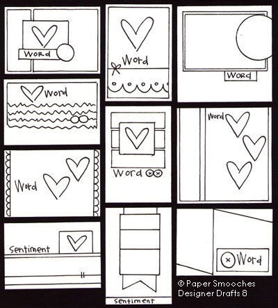 Paper Smooches: Designer Drafts 8