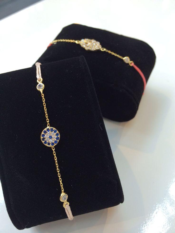 Charm'ed bracelet, Protective eye with chain, lykkearmbånd, www.girlsbestfriend.dk