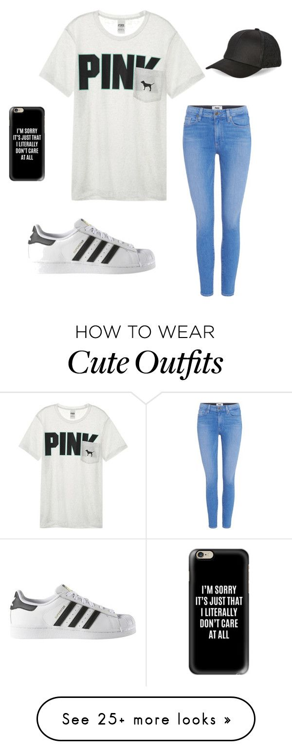 """""""Casual Outfit"""" by mackenziefouust on Polyvore featuring Victoria's Secret, Paige Denim, adidas, BCBGeneration and Casetify"""