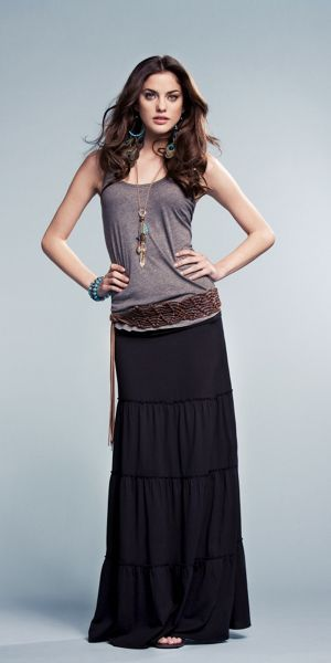 Three Cheers for boho chic! I'd love to find a good Maxi skirt...