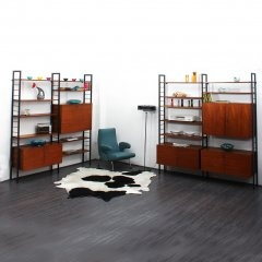60s shelving system with bar cabinet - www.velvet-point.com