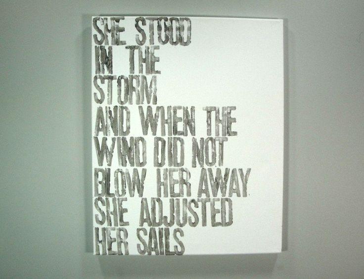 She Stood in the Storm - Quote by Elizabeth Edwards. 16x20 inch art canvas by the Canton Box Company