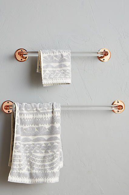 Best 25 Bathroom Towel Bars Ideas On Pinterest  Hanging Bathroom Best Bathroom Towel Bar Design Inspiration