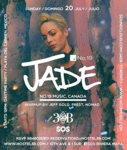 Jade @ SOS Lounge - Hostel 3B Playa del Carmen