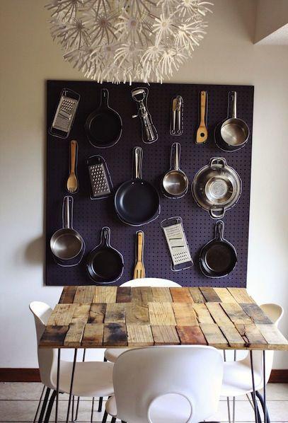 DIY - Kitchen Organizer Pegboard by A Beautiful Mess