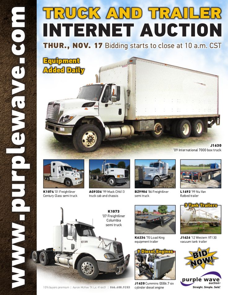 Truck and Trailer Auction November 17, 2016 http