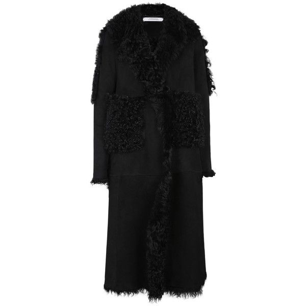 Dorothee Schumacher     Naturally Cosy Coat (55 380 UAH) ❤ liked on Polyvore featuring outerwear, coats, black, shearling coat, long oversized coat, sheep fur coat, long shearling coats and oversized coat