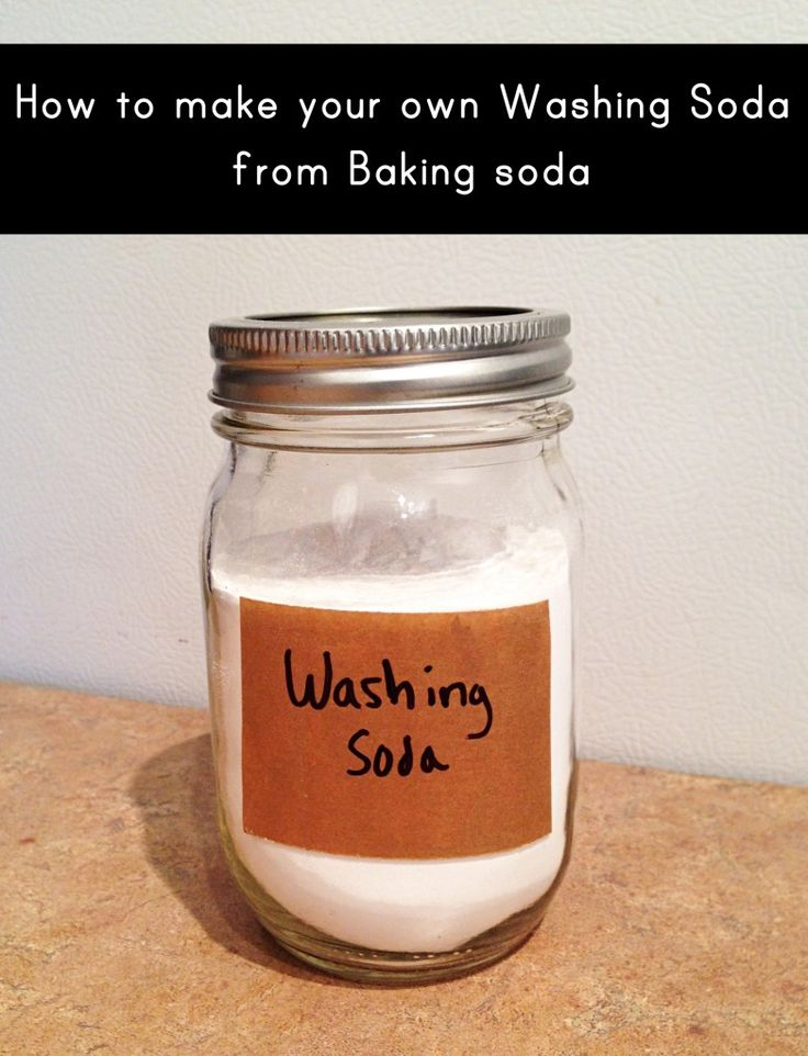 Homemade washing soda from baking soda (for use in homemade laundry detergent and homemade dish detergent)