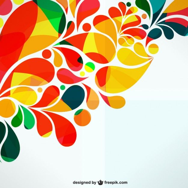 Diseño abstracto ornamental colorido