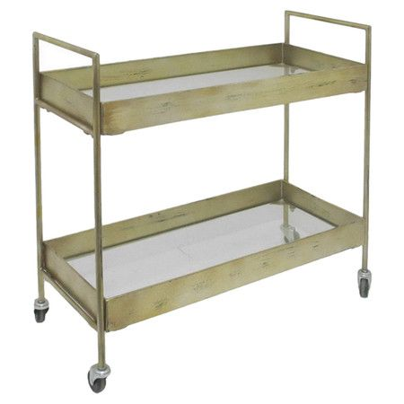 32 inches wide!Dining Rooms, Carts Bring, Living Rooms, S'Mores Bar, Wheels Carts, Gold Finish, Vivian Carts, Bring Vintagee Ch, Bar Carts