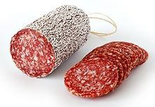 Téliszalámi - (or Winter salami, salami made of spiced meat, cold smoked, and dry ripened, the most famous brand made by Pick Szeged)