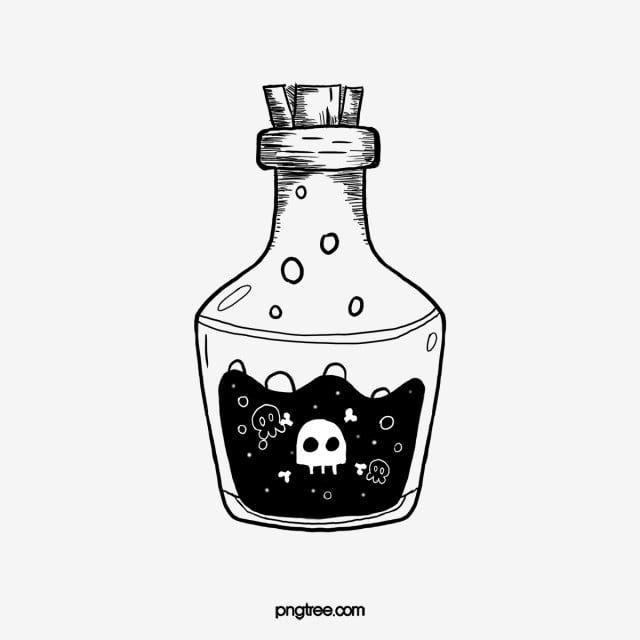 Hand Drawn Style Black And White Bottle Lineart Hand Hand Drawn Style Bottle Png Transparent Clipart Image And Psd File For Free Download Bottle Drawing How To Draw Hands Black And