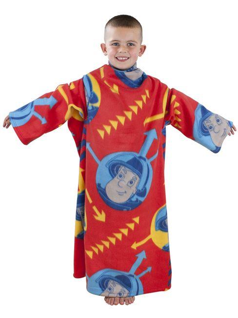 Fireman Sam Alarm Sleeved Fleece Blanket - Kids Bedroom