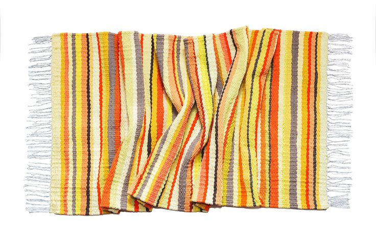 #woven #striped #rug #carpet #weaving #loom