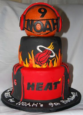 miami heat birthday party favors | Miami Heat Cake