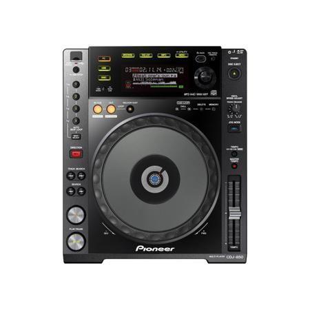 Pioneer CDJ-850-K  — 69990 руб. —  Мультиформатный CD/USB-проигрыватель для диджея с поддержкой форматов MP3, AAC, WAV и AIFF. Расширенные возможности по навигации, память на воспроизводимые и воспроизведенные треки и большой джог диаметром в 8 мм. Основной графический ЖК-дисплей, специальный мини-дисплей для волновой формы и отдельный многосекционный дисплей, вписанный в джог. Комплектное ПО rekordbox для работы с музыкальными файлами на ПК и встроенный USB-аудиоинтерфейс.