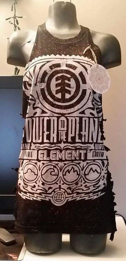Element's up cycled bleached tank. by RebelStateDesign on Etsy