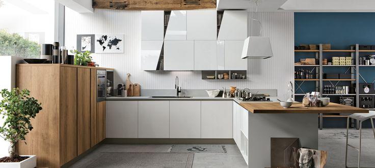 cucina Stosa Cucine Infinity composizione tipo 02 - Cucine a prezzi scontati