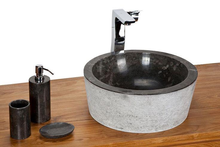 Sink Loyang Bowl Outside Alur Geret Color : Black Size: Ø 40 cm X H. 15 cm Ø 45 cm X H. 15 cm