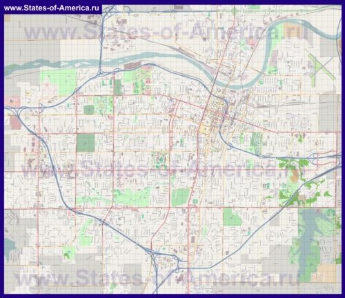 Подробная карта города Топика