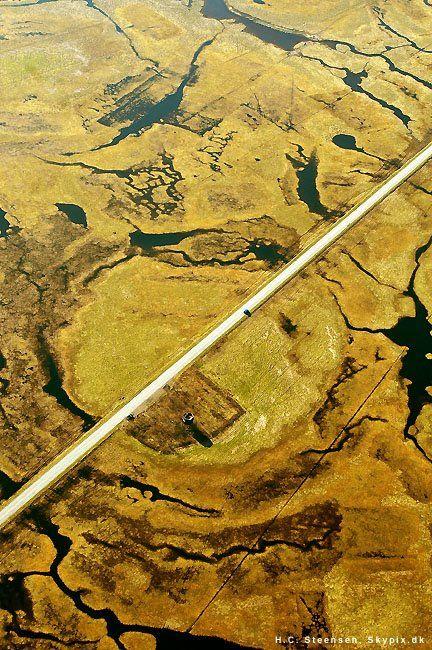 The road to Nyord, Denmark