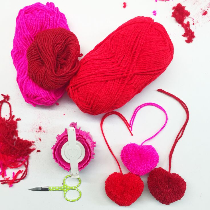 How to make a #heart #shaped #pompom for #valentines #day - over on our blog right now!