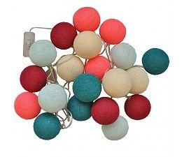 Cotton Ball Lights Bollen lichtslinger Roze-Blauw