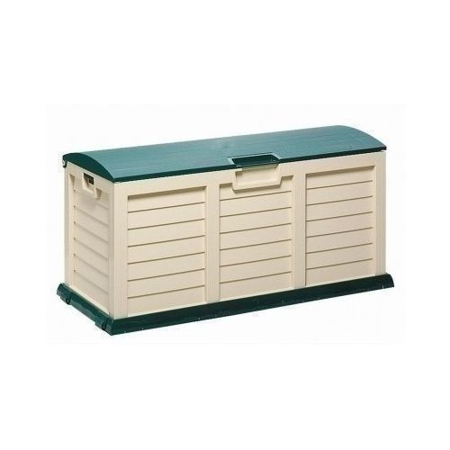 XX Large Garden Storage Chest Rolling Plastic  Box Patio Green Stand Outdoor Lid