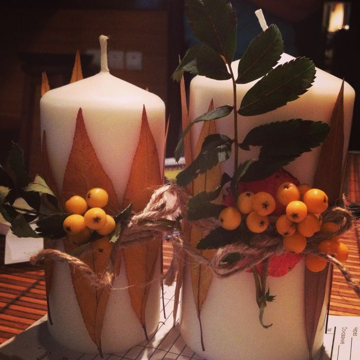 Свечи для свадебного стола