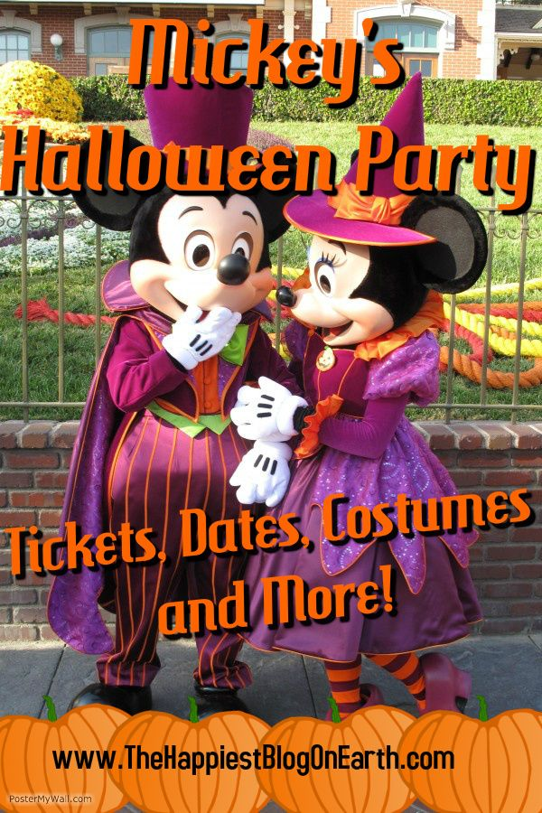 Details on Mickey's Halloween Party at Disneyland Park, tickets, Halloween costume ideas & Disneyland planning advice from the Disneyland experts.