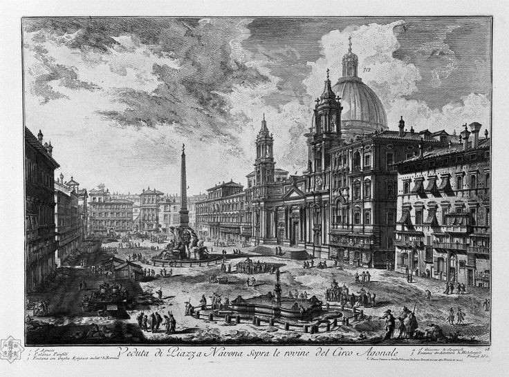 View of the Piazza della Rotonda - Giovanni Battista Piranesi