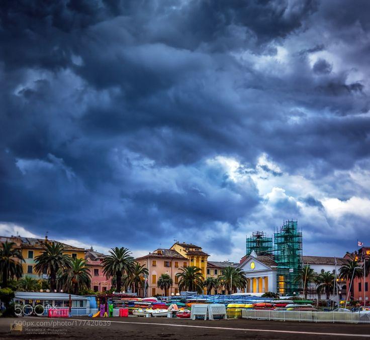 Stormy weather - Sestri Levante by maranatha via http://ift.tt/2ecB8BV